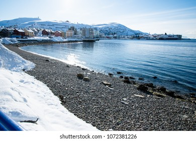 Northern Europe Norway Hammerfest city landscape Struve Geodetic Arc world heritage