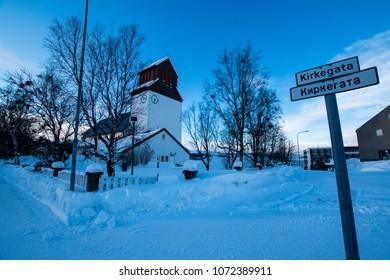 Northern Europe Norway Kirkenes city landscape