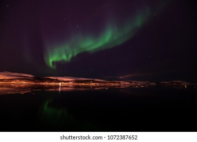 Northern Europe Norway Kirkenes Northern lights Aurora
