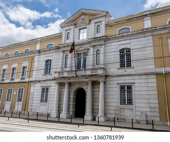 Northern facade of the Cordoaria Nacional building, the former rope making factory, built in the 18th century in Lisbon, Portugal