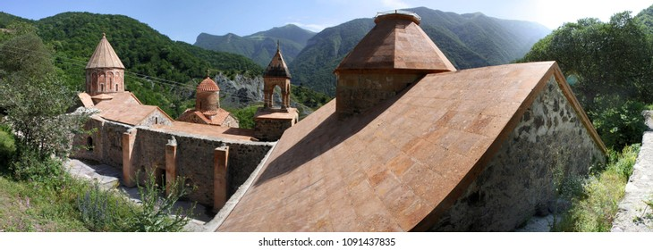 Northern facades of Dadivank monastery, Nagorno-Karabakh