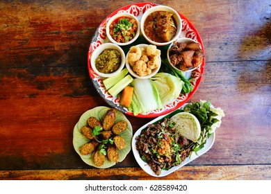 Middle eastern arabic dishes assorted meze imagen de archivo stock northern food of thailand forumfinder Gallery