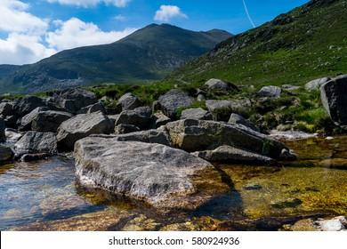 Northern Ireland Landscape Mourne mountains.