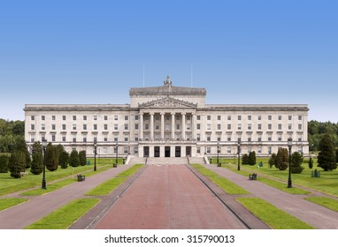 Northern Ireland Parliament and Government building in Stormont, Belfast