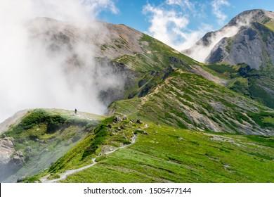 Northern Japanese Alps above Hakuba Valley, Nagano, Japan