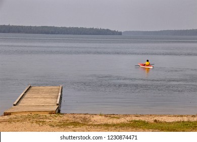 Northern Lake Canada Dock kayak wilderness Manitoba Duck Mountain