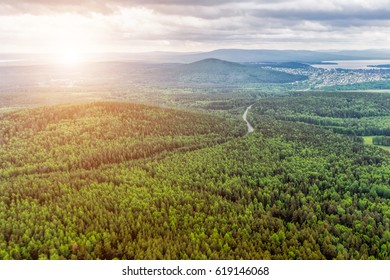 Northern landscape. Endless forests