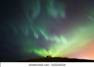 The Northern Light Aurora borealis at Keflavik Reykjavik area  Iceland