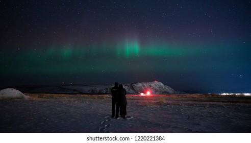 Northern light in Kangelussuaq, Greenland