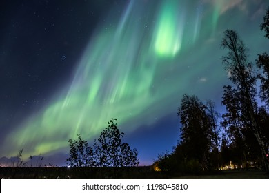 Northern light in Oulu, Finland