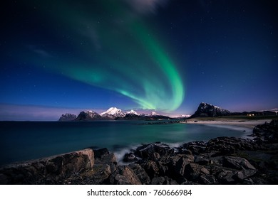 A Northern Light scene from Lofoten islands