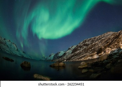 Northern Lights above Tromso in Norway