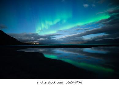 Northern lights (Aurora borealis) in Abisko national park