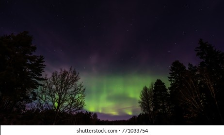 The Northern Lights Aurora Borealis. An aurora is a natural light display in the sky, predominantly seen in the high latitude (Arctic and Antarctic) regions but sometimes even in Uppland, Sweden