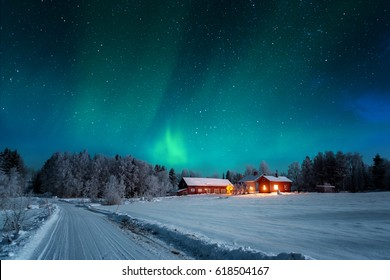 Northern lights - Aurora borealis over Norway