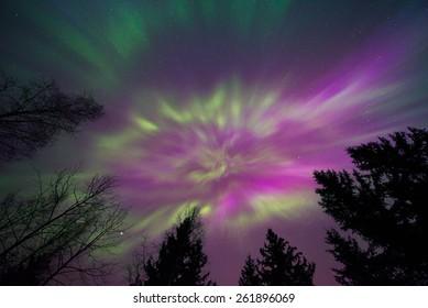 Northern lights corona
