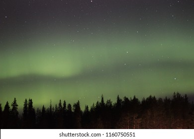 Northern lights in finish lapland, finland