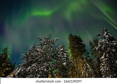 Northern lights Finland Paljakka Puolanka