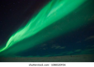 Northern lights in Iceland winter