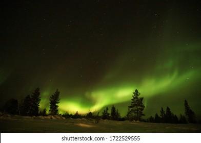 Northern lights in Kiilopaa, Finland