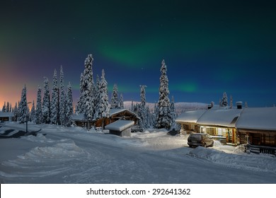 Northern lights in Lapland, Kuusamo, Finland