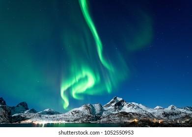 Northern Lights in Lofoten Islands