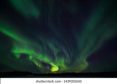 Northern lights near the arctic circle