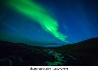 Northern lights in Nordkapp, Norway