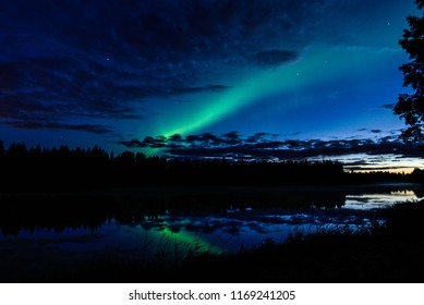 Northern Lights on the river