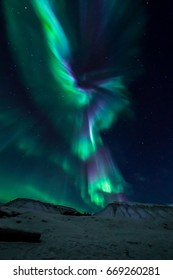 Northern lights on Svalbard, Norway