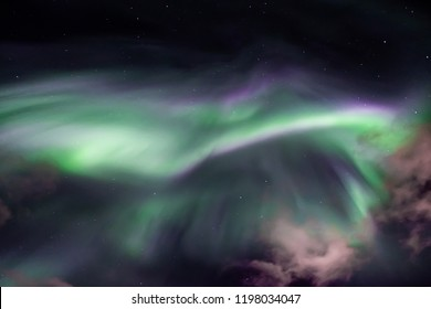 Northern lights in Oulu, Finland