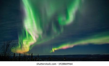 Northern Lights over Fairbanks Alaska