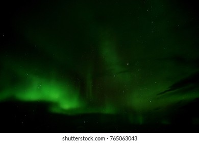 Northern lights over Lake Myvatn