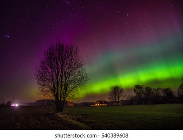 northern lights over latvia