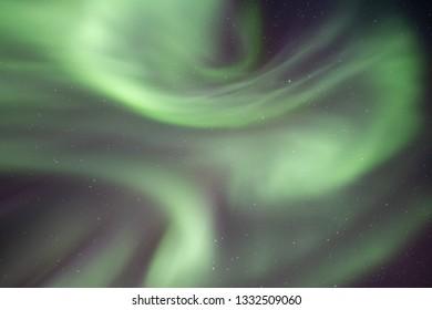 Northern Lights Phenomenon in the Sky. Taken in Reykjavik, Iceland