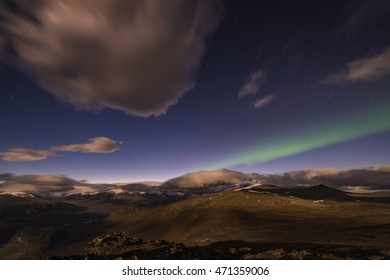 Northern lights, Rapa Valley, Lapland, Sweden