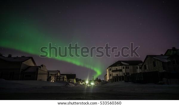 Northern Lights. The Republic of Karelia
