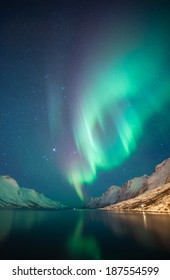 Northern Lights as seen from Ersfjordbotn, Norway