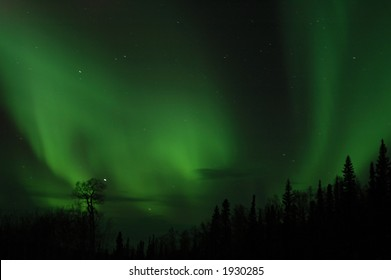 Northern lights as seen north of Fairbanks, Alaska