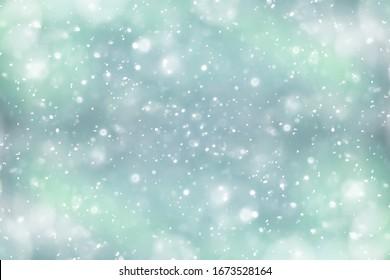 Nordlichter, Schneehintergrund