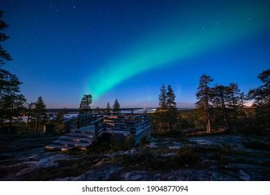 Northern Lights Viewpoint - Autumn Landscape