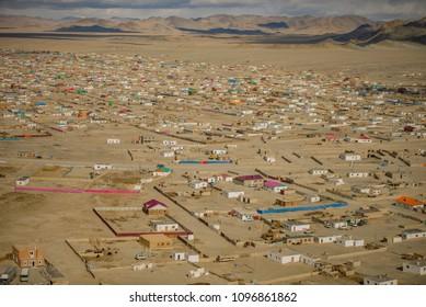 Northern Mongolia. The city of Ulgiy.