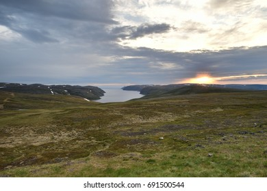 Northern Norway landscape at sunset