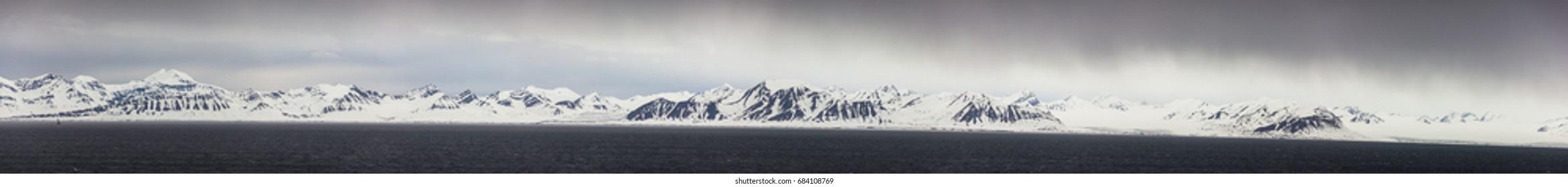 Northern Norway near Longyearbyen in Spitsbergen, Svalbard