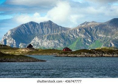 Northern Norway in the summertime.Troms,Sandoya.