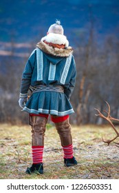 Northern Norway, a traditional dressed Sami