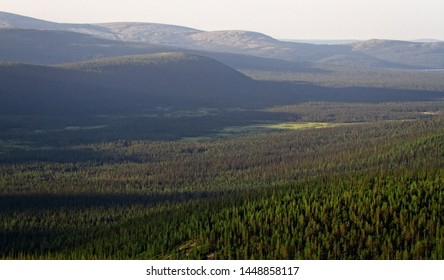 Northern Scandinavian mountain tundra and forest, boreal forest on plateaus (fjel). Dominate Norway fir (Pinus friesiana, P. lapponica). Glaciated landscape