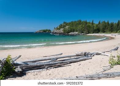 Northern shore of Great Lake Superior.  Pukaskwa National Park of Canada. Ontario, Canada