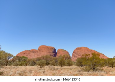 NORTHERN TERRITORY, AUSTRALIAN - OCTOBER 22: Kata Tjuṯa, also known as the Olgas, is a group of 36 red-rock domes of the Kata Tjuta in Tjuta National Park, Northern Territory, central Australia.