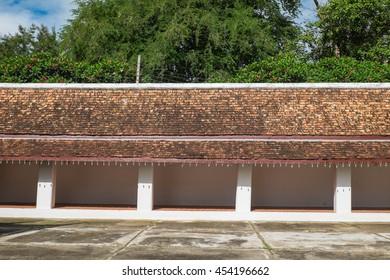Northern Thai temple terrace